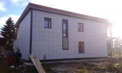 Монтаж вентилируемого фасада в Тосненском районе