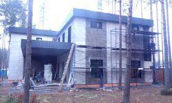 Монтаж вентилируемого фасада 1 в КП «Охтинский парк»